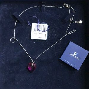 purple heart Swarovski necklace